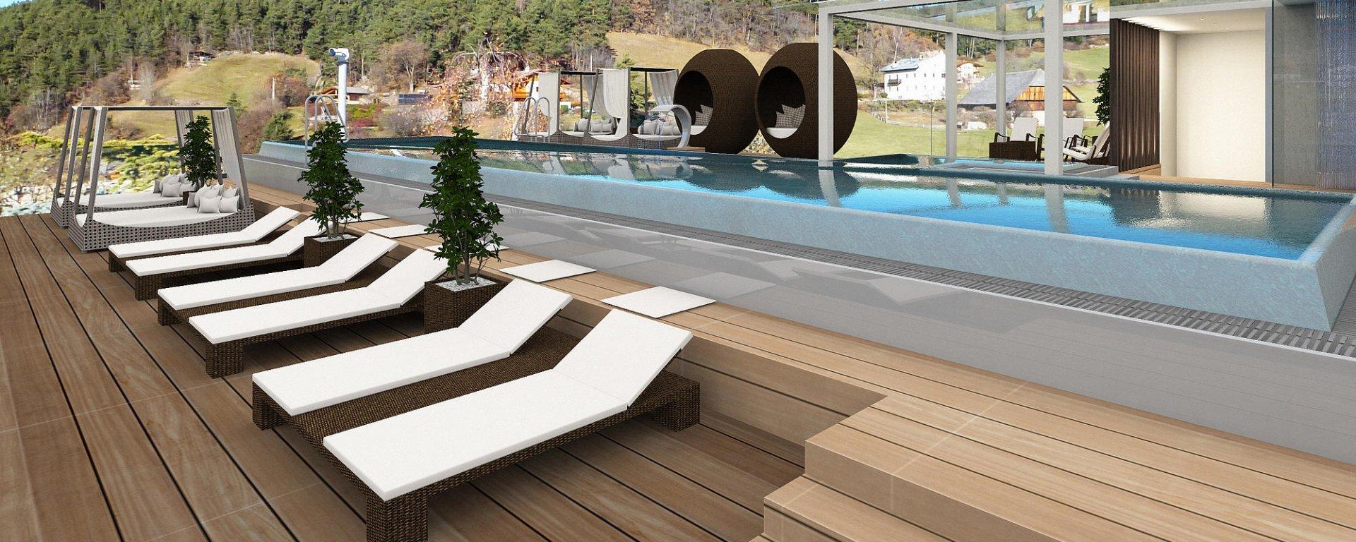 piscina Infinity sky Abinea Hotel