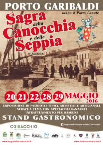 6° edizione della Sagra della Canocchia e della Seppia: PORTO GARIBALDI, dal 20 al 22 e il 28/29 maggio